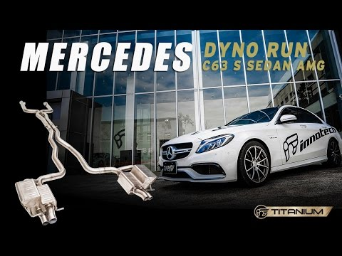 iPE Mercedes W205 C63S AMG on dyno