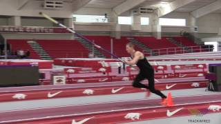HOW TO POLE VAULT - Swing Drills 4 Step Swing and Turn Trackwired