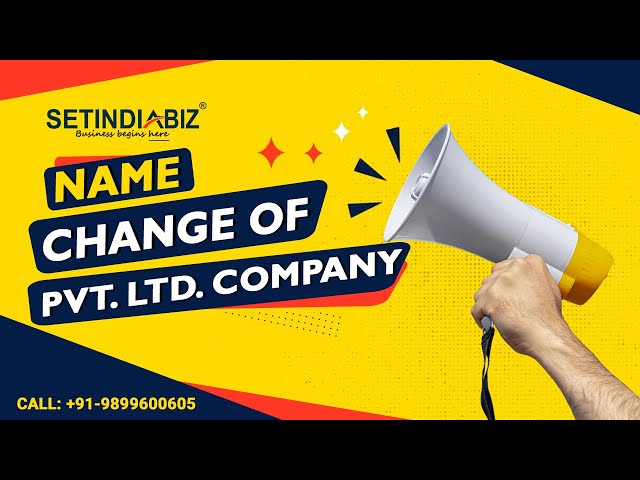 How to Change the company name in India
