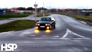 BMW E36 325, Drifting on wet!
