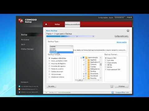 Efetuar backups de ficheiros para um disco rígido externo