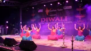 Diwali 2014 at Federation Square Melbourne - Ignite Bollywood Dancers
