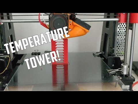 Temp Tower PLA,ABS,PETG by stoempie - Thingiverse