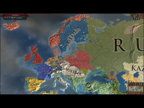 Europa Universalis 4 AI Timelapse - Extended Timeline Mod