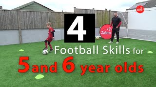 4 Football Skills for 5 and 6 year olds to learn
