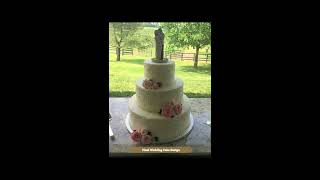 Buttercream Pearls And Lace Wedding Cake
