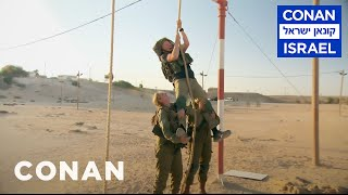 Conan Trains With The Women Of The Israel Defense Forces  - CONAN on TBS - Video Youtube