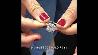 2.5 Carat Cushion Cut Diamond Double Edge Halo