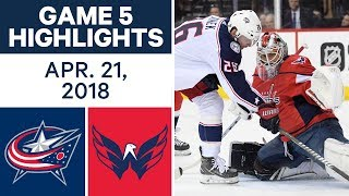 NHL Highlights | Blue Jackets vs. Capitals, Game 5 - Apr. 21, 2018