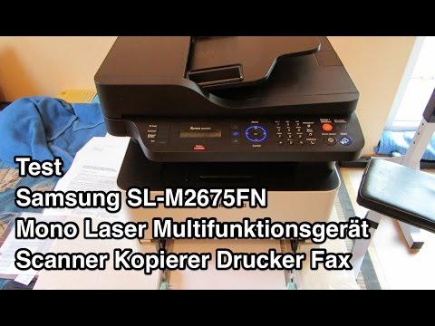 Test Samsung SL M2675FN Multifunktionsgerät | Samsung Xpress M2675FN | Samsung SL-M2675FN
