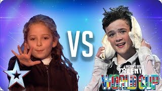 Issy Simpson vs George Sampson | Britain's Got Talent World Cup 2018 - Video Youtube