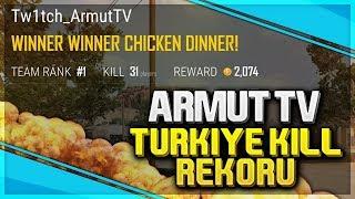 PUBG Türkiye Kill Rekoru - 31 Kill - One Man Squad (Armut TV)