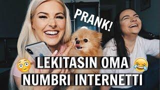 LEKITASIN OMA NUMBRI INTERNETTI PRANK ft sidni