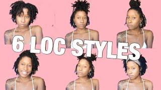 6 EASY Hairstyles For Starter Locs   Short / Medium Length   XOXKYA