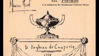 Ravel - Le Tombeau de Couperin, orchestration complète