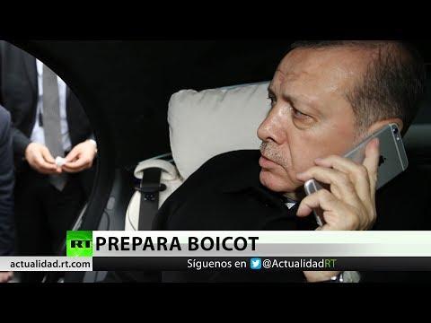 """Erdogan: """"Vamos a boicotear los productos electrónicos de EE.UU.""""."""