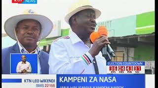 Kampeni za NASA : Raila Odinga aongoza Mkutano eneo la Isinya