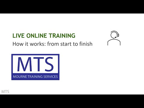 Live Online Training from MTS - How it Works: from Start to Finish ...