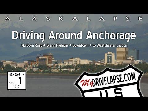 Dashcam Drive through Anchorage, Alaska