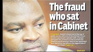 FRAUD WHO SAT IN CABINET: How Uhuruto appointed Echesa to public service with the shortest CV