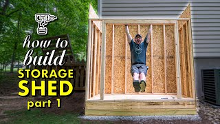 HOW TO BUILD A SHED, PT. 1 : Framing The Floor, Walls & Roof Plus Siding