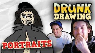 DRUNK DRAWING PORTRAITS