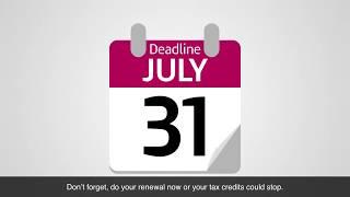 Tax credits renewals - a quick guide