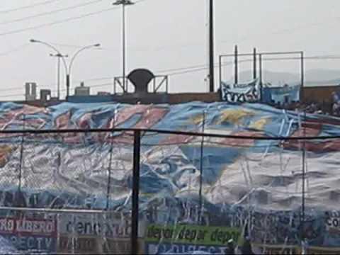 """""""De lOcal para La HistOria Celeste16/06/2010 EXTREMO CELESTE, GVARDIA XTREMA Y FVERZA ORIENTE"""" Barra: Gvardia Xtrema • Club: Sporting Cristal"""