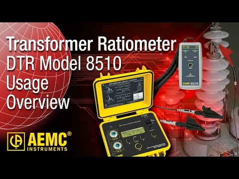 AEMC® - DTR® Model 8510 - Usage Overview