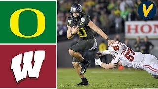 #6 Oregon Vs #8 Wisconsin Highlights | 2020 Rose Bowl Highlights | College Football