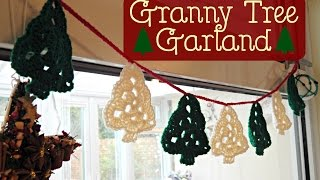 Granny Tree Garland Bunting How To Tutorial // Crochet // ¦ The Corner Of Craft