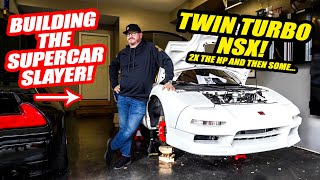 Making Our Rare Honda NSX a HP MONSTER! *TWIN TURBO BUILD* Will Our Supercars Be Embarrassed?