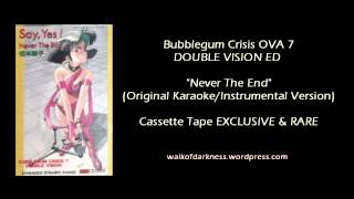Bubblegum Crisis - Never The End (Original Karaoke Version) *RARE*