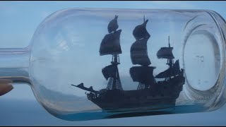 the Black Pearl Ship in Bottle Making