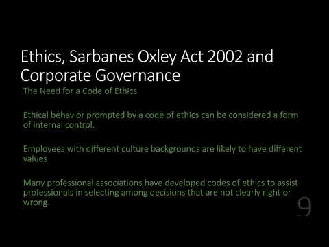 Sarbanes-Oxley and Corporate Governance - YouTube