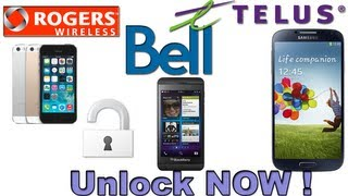 Unlock Your iPhone Very Cheap Rogers Bell Fido Telus !