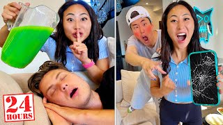 Pranking The BOYS For 24 HOURS!! **GONE WRONG**