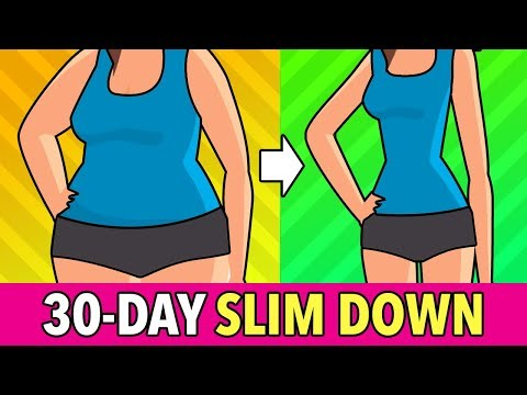30-DAY Total Slim Down: Fat Burn Workout Plan [Belly, Legs, Arms]