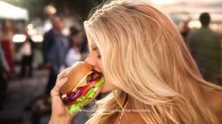 Charlotte McKinney - Carls Jr Ad Commercial - Super Bowl XLIX 2015 - The All Natural Burger