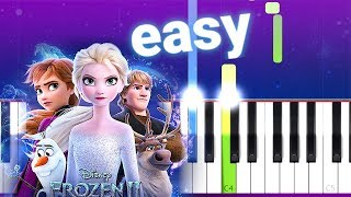 Panic! At The Disco - Into The Unknown (Frozen 2) 100% EASY PIANO TUTORIAL