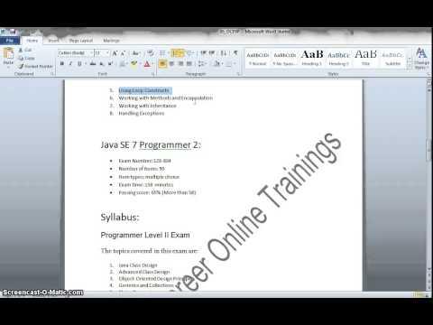 Java Certification|Oracle Certified Java Programmer|Oracle Certified ...