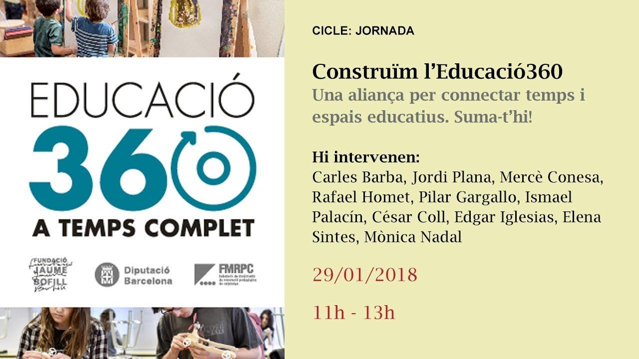 Primera part (11-13 h): Construïm l'Educació360 | Una aliança per connectar temps i espais educatius. Suma-t'hi!