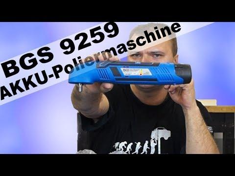 Akku Poliermaschine von BGS 9259 unboxing, review und härtetest