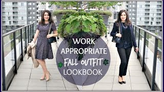 WORK APPROPRIATE FALL OUTFIT LOOKBOOK