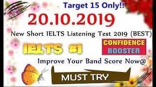 IELTS LISTENING PRACTICE TEST 2019 WITH ANSWERS | 20.10.2019