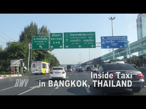RWV:  Inside Taxi on streets in Bangkok, Thailand