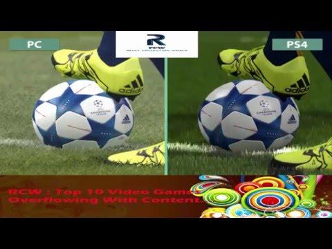 PES  Pro Evolution Soccer 2016  PC vs  PS4 Graphics Comparison