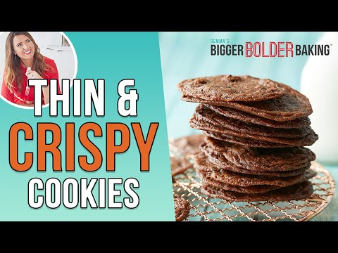 Thin & Crispy Chocolate Chip Cookies 🍪