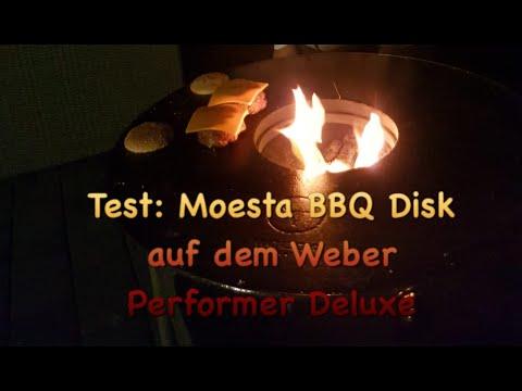 TEST: Moesta BBQ Disk auf dem Weber Performer Deluxe