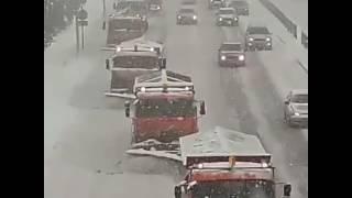 Алматы, Рыскулова, чистка снега.